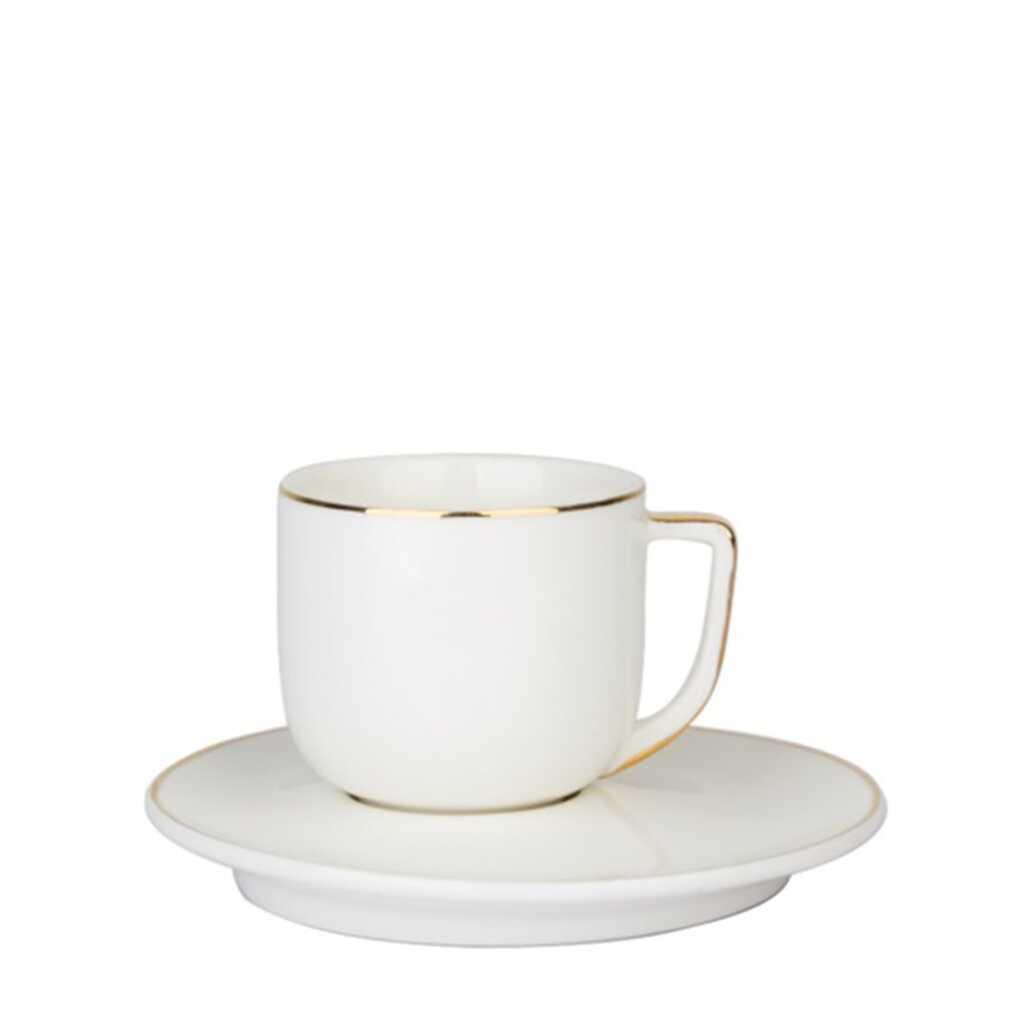 Acar CLK-10092 12 Parça Porselen Fincan Takımı Beyaz