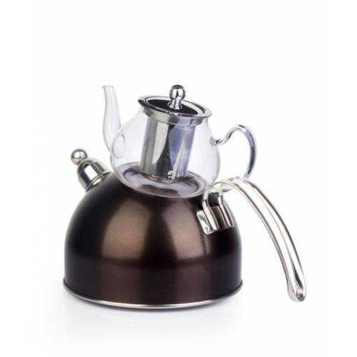 Acar GOL-10030/6 Morning Star Çelik Düdüklü Çaydanlık Kahve