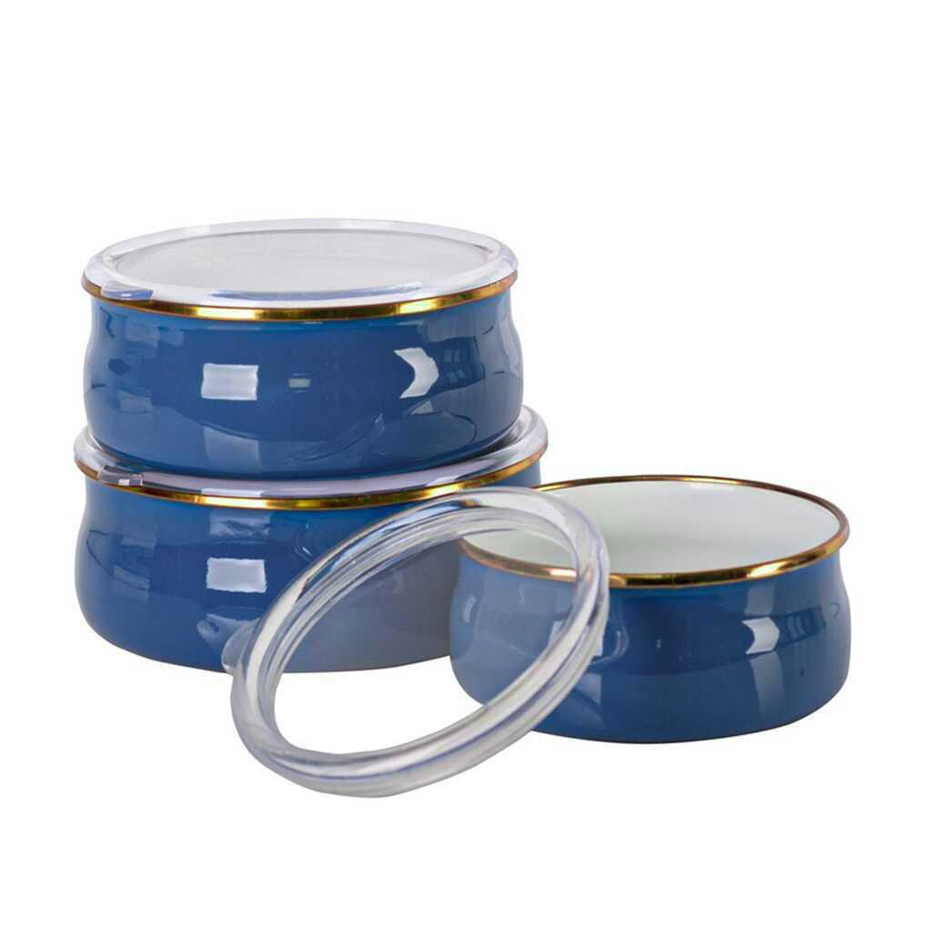 Acar Qualita APY-10790 3 lü Vakumlu Saklama Kabı Mavi Gold