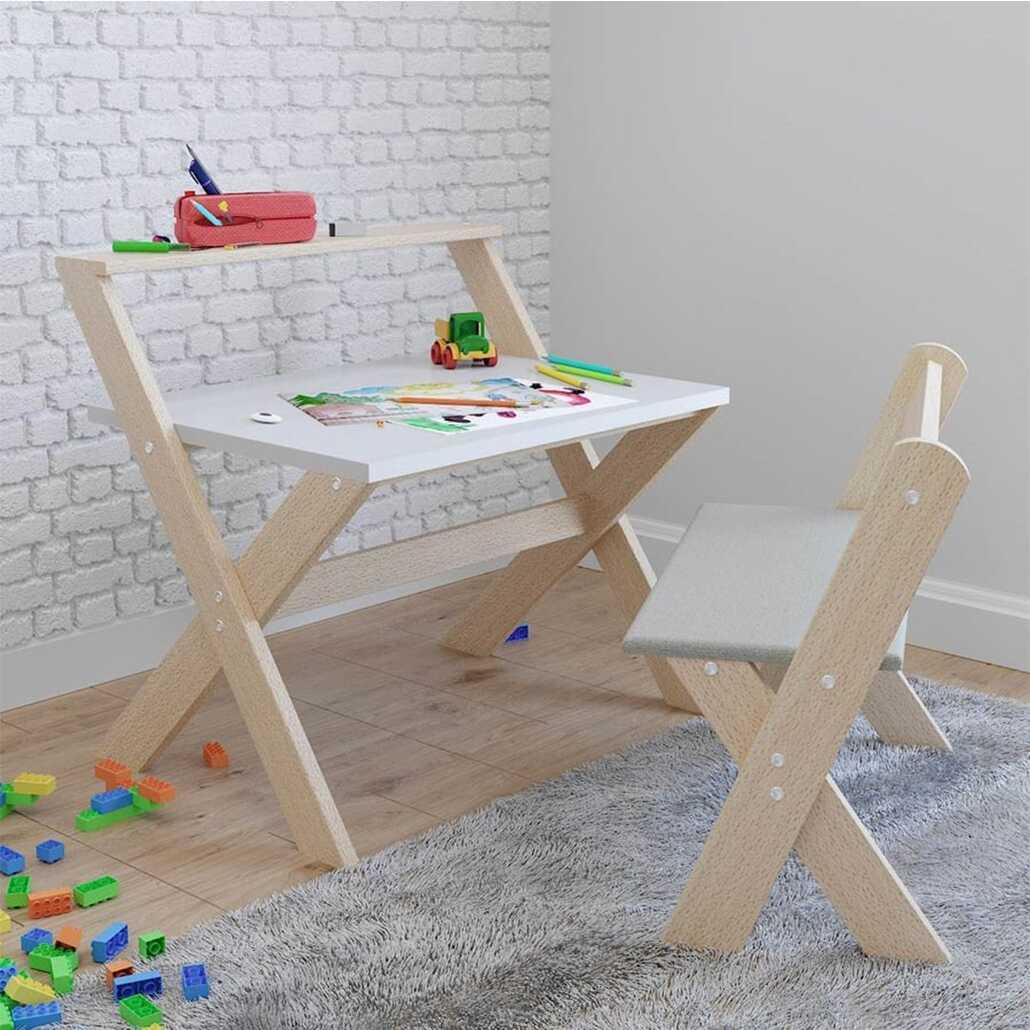 Bienwood Çocuk Masa Sandalye Takımı