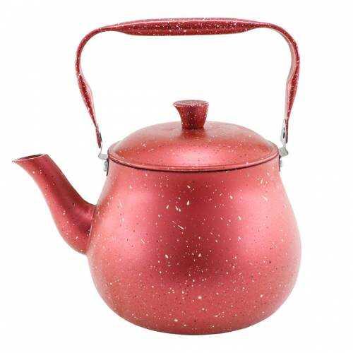 Cookbella Üstten Kulplu 2Lt Granit Kaplama Çaydanlık Kırmızı