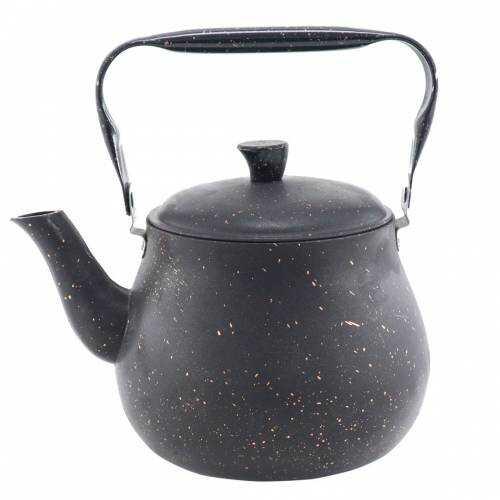 Cookbella Üstten Kulplu 2Lt Granit Kaplama Çaydanlık Siyah
