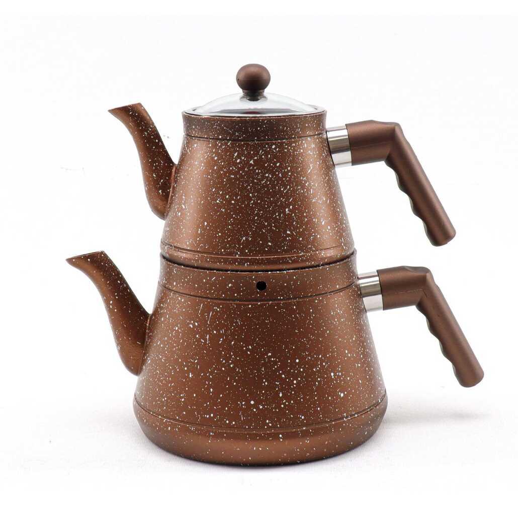Esra Sonessa Orta Boy Granit Çaydanlık Kahve