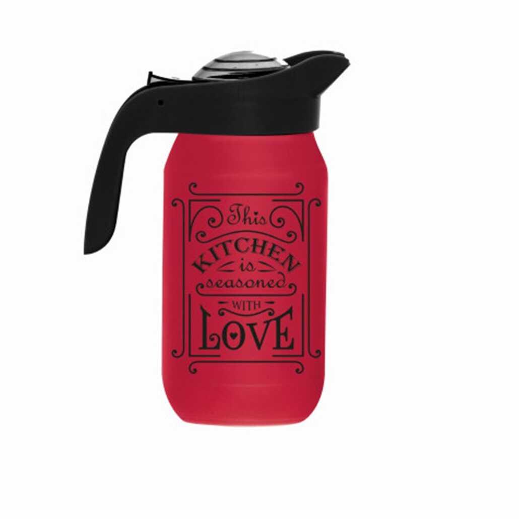 Herevin 111282-121 Kitchen Love Desenli Sürahi Kırmızı
