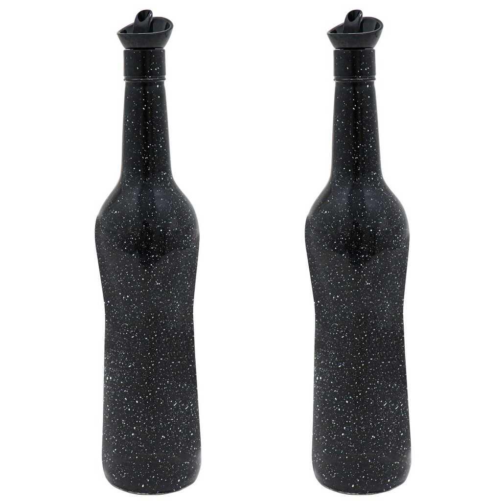 Herevin 155100 Mermer Desen Siyah 2li Yağlık-Sirkelik 700 Cc