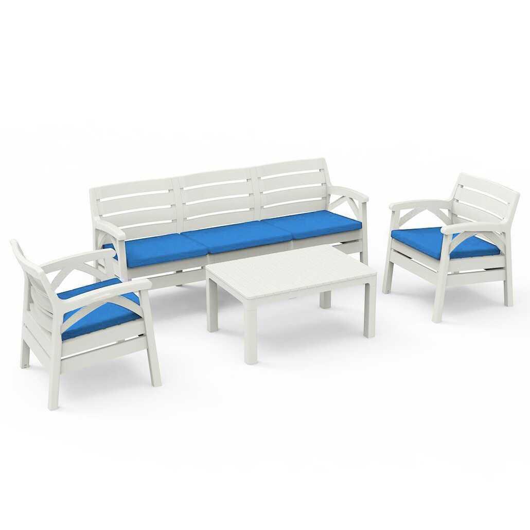 Holiday Hawai Bahçe Mobilyası Balkon Takımı ve Oturma Grubu Beyaz