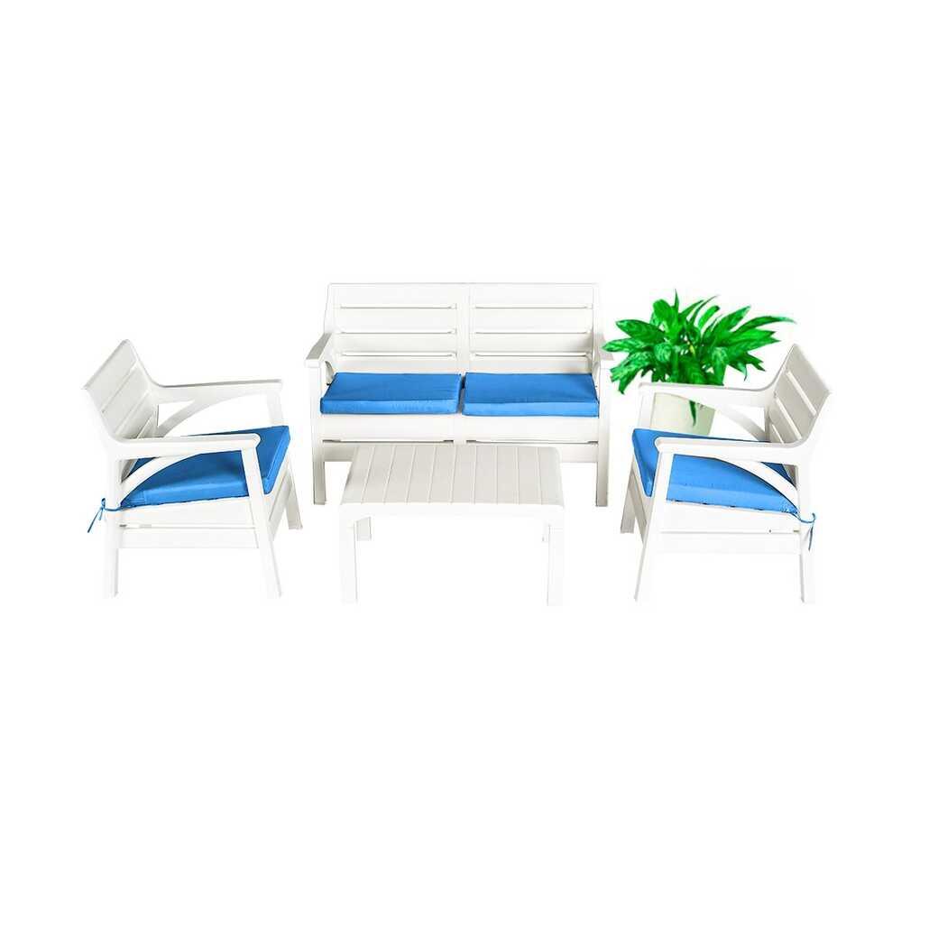 Holiday Miami Bahçe Mobilyası Balkon Takımı ve Oturma Grubu Beyaz