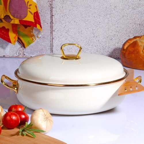 Kitchen World İvory-309 26 Cm Emaye Karnıyarık Tenceresi