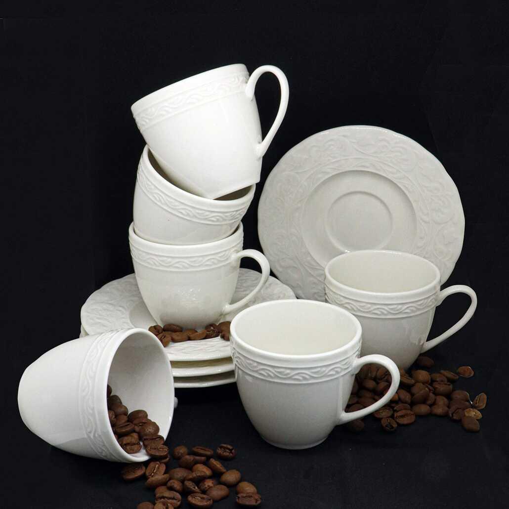 Kütahya Porselen Bone Başak Kahve Fincan Takımı