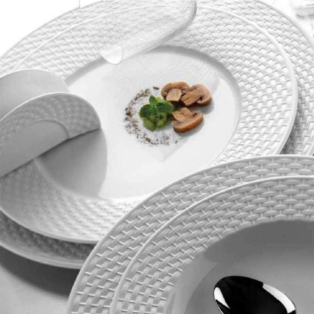 Kütahya PorselenPolo 53 Parça 12 Kişilik Beyaz Yemek Takımı
