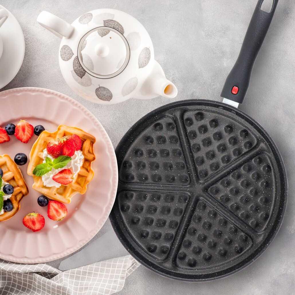 Lily 26 Cm Granit Kaplama Waffle Tavası