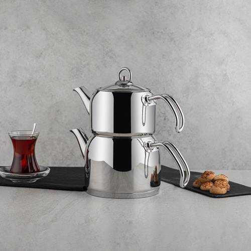 Nehir 29005 Modern Mini Çelik Çaydanlık Takımı