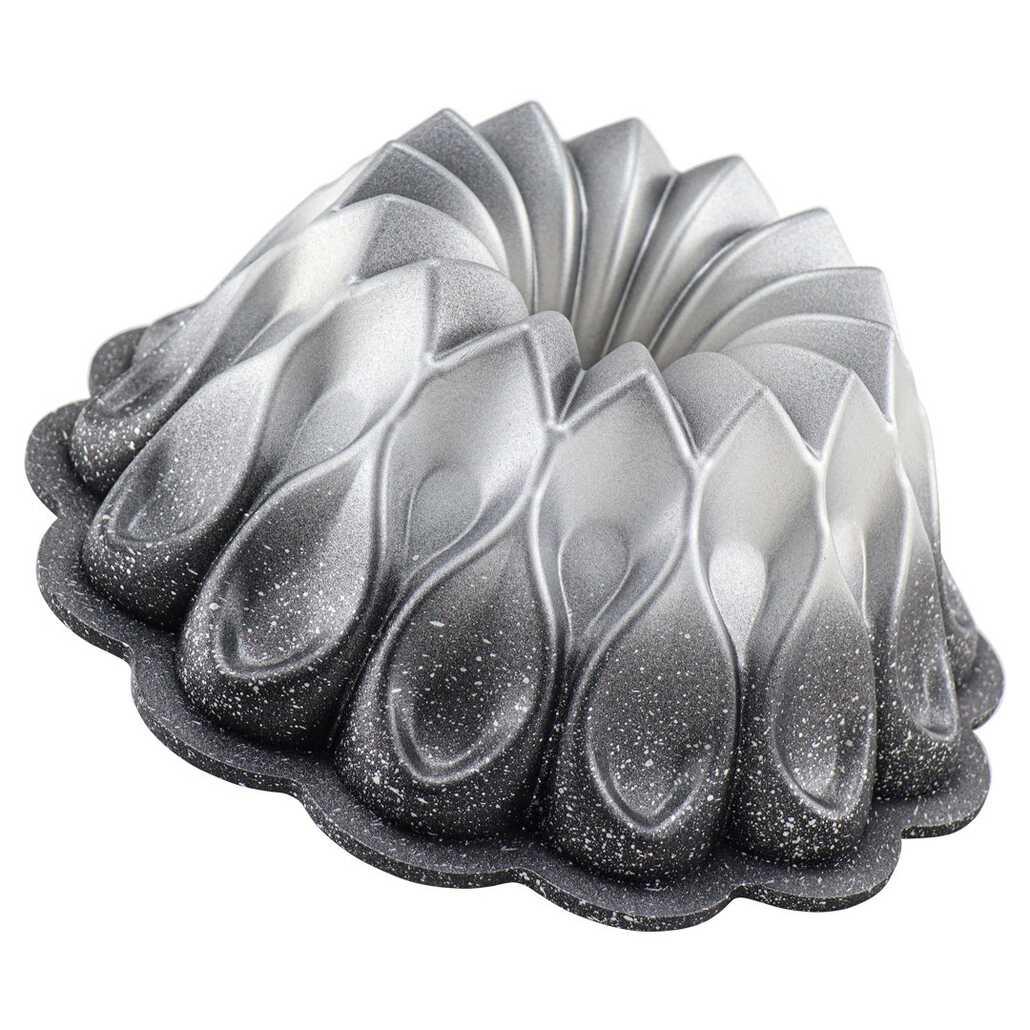 Oms 3272 Damla Gülü Granit Kek Kalıbı Siyah Gümüş