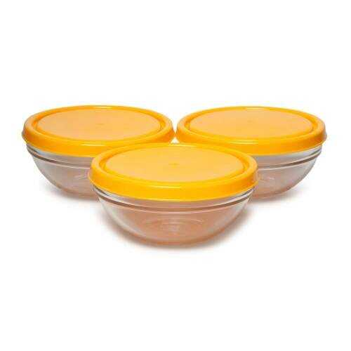 Paşabahçe 53553K Chef's 3 Parça Kapaklı Saklama Kabı Sarı