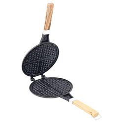 Porsima Döküm Waffle Tavası Ahşap Kulp Siyah - Thumbnail