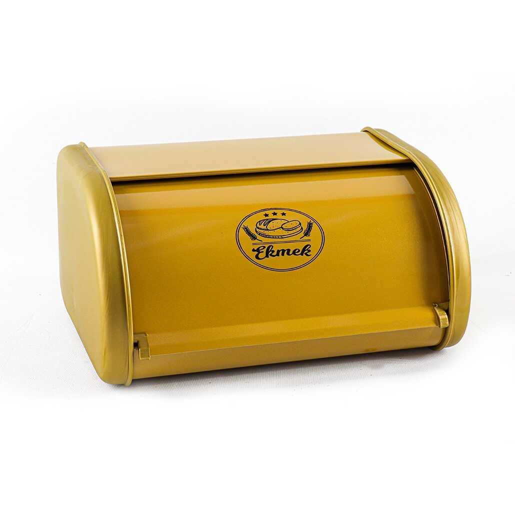 Porsima Sürgülü Ekmek Kutusu Gold