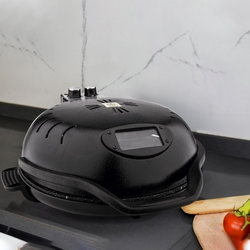 Tandırım Elektrikli Pizza Lahmacun Ekmek Yapma Makinesi Siyah - Thumbnail